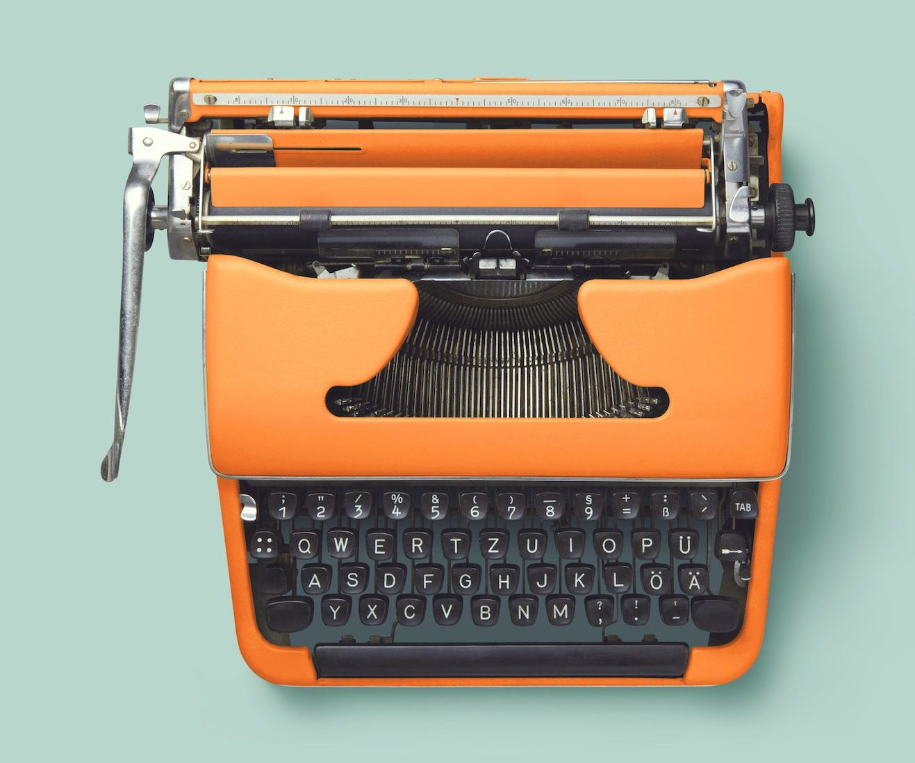 Typewriter Orange